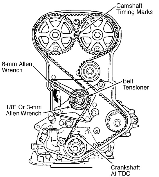 1997 honda accord timing belt diagram