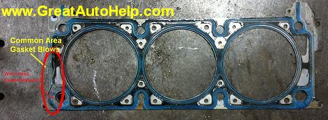 Pontiac G6 head gasket leaking causes engine overheating.