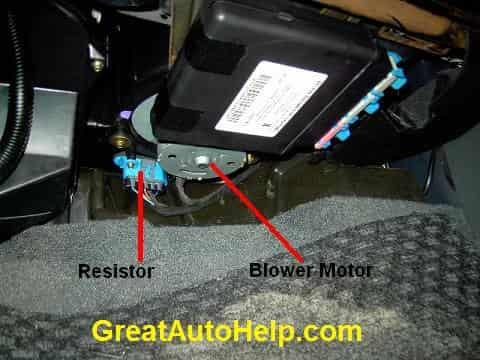 Pontiac Grand Am Blower Resistor Location PictureGreatAutoHelp.com