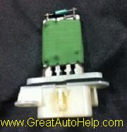 Blower motor resistor module causes fan speeds to not work.
