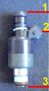 Older style fuel GM fuel injector.
