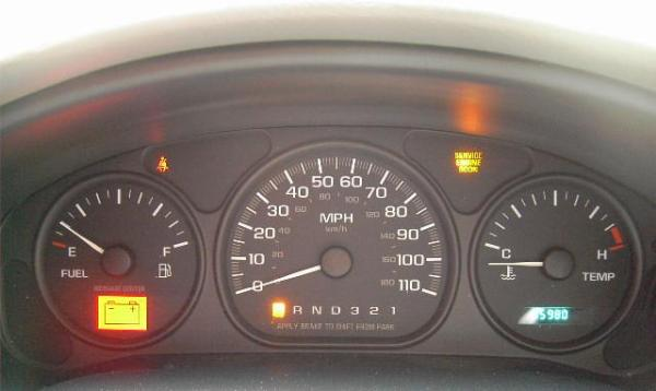 Instrument panel gauges cluster with driver information center.