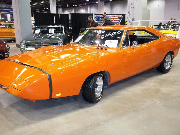 Dodge Super Bee Daytona at world Of Wheels car show.