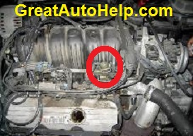 3800 3.8L V6 GM engine fuel pressure regulator location pictures.