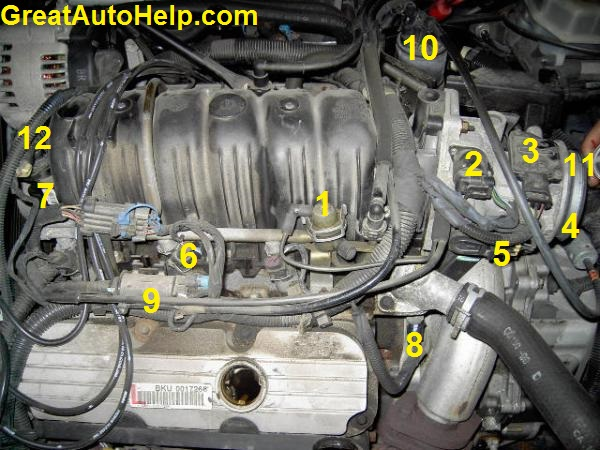 3800 V6 Engine Sensor Locations Pictures and DiagramsGreatAutoHelp.com