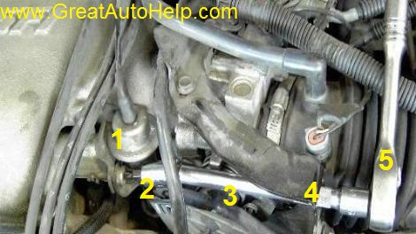 Leaking fuel pressure regulator can cause hard stating, stalls, gas odor, misfire code p0300.