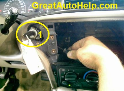 How to remove the passlock ignition cylinder to repair a theft or securilty light oin chevy Malibu.