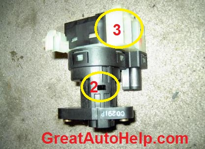 Oldsmobile Alero ignition switch and passlock key cylinder replacement.