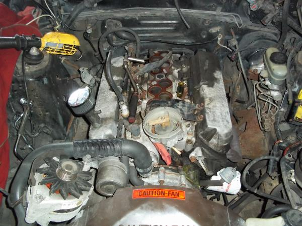 starting to remove parts from our 5 0l mustang enginestarting to disassemble the 1988 ford mustang engine