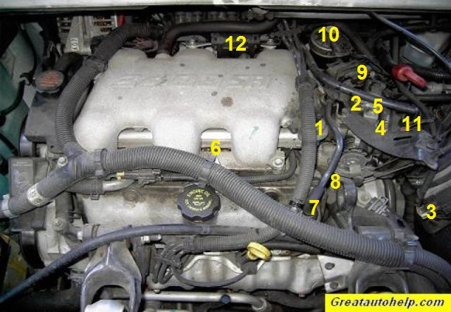 2000 alero engine diagram 3 4l and 3 1l v6 engine sensor location pictures and repair help  3 4l and 3 1l v6 engine sensor location