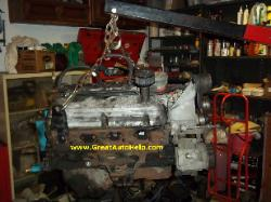 Ford 5.0L removed and on engine stand.