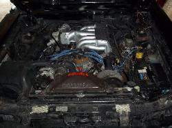 1988 Ford Mustang Fox Body 5.0L engine before removal.